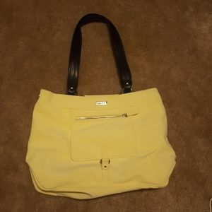Miche bag, yellow cover, new insert, new handles